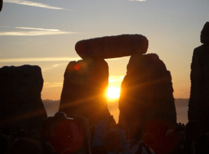 Stonehenge is an iconic image for a past life party
